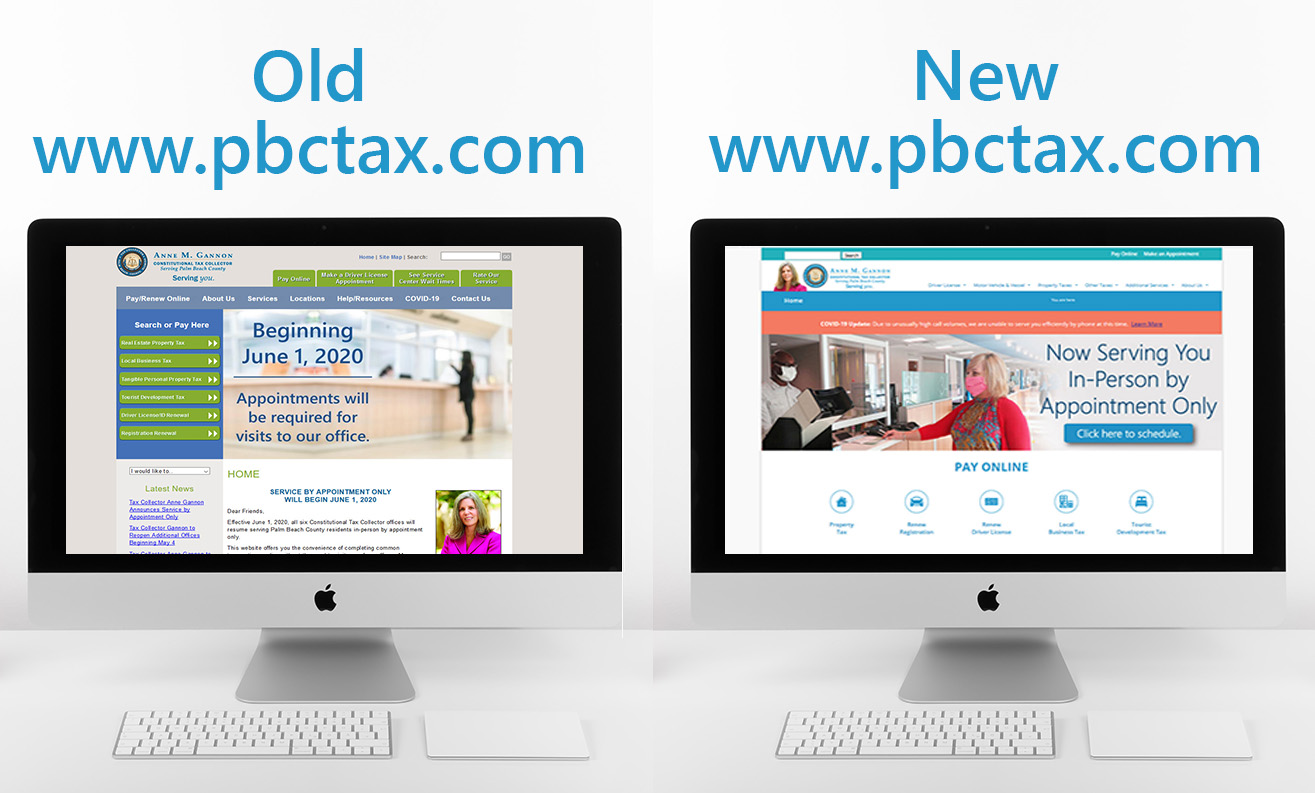 image of old and new website