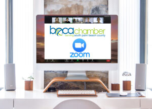 image of zoom meeting with boca chamber