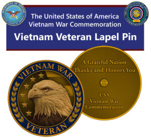 Vietnam Veteran Commemorative Pin