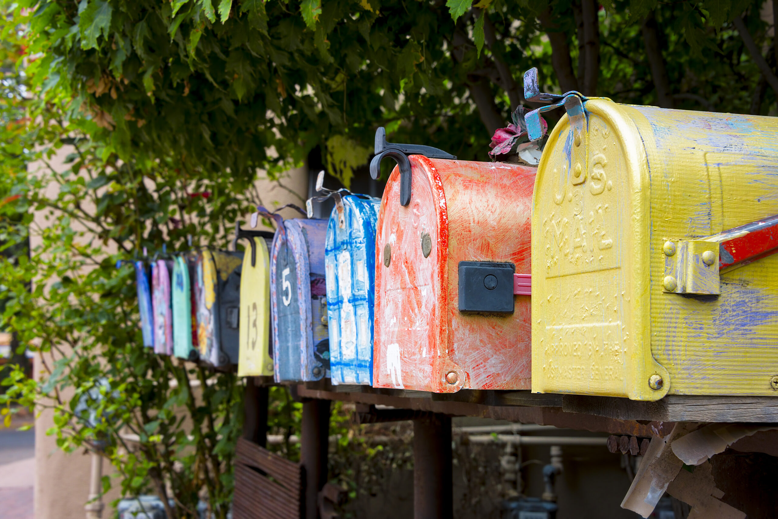 Photo of Colorful Mailboxes