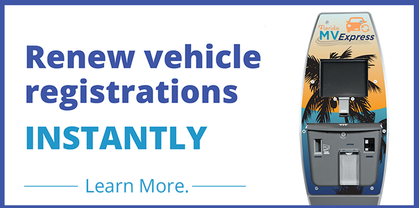 Renew vehicle registrations instantly
